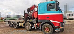 VOLVO FH12 460 8x2 *manual *Fassi 660XP + jib camión caja abierta