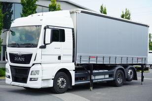 MAN TGX 26.480 XLX , E6 , 6X2 , Tarpulin 18 EPAL , height 2,55m camión con lona corredera