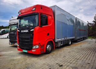 SCANIA s450 zamknięty Geschlossen Transport camión portacoches