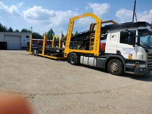 SCANIA Eurolohr camión portacoches + remolque portacoches