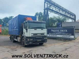 IVECO EuroTech 260E27,Euro 3,Hydraulická ruka Panoba camión toldo