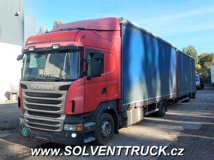 SCANIA R400,Euro 5, Automat camión toldo + remolque toldo